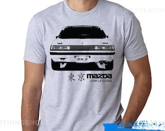 Mazda Rx-7 FB T-shirt -First Gen Rx7 Tshirt - wankel - Rotary Power
