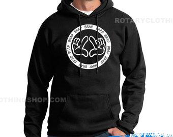 Braap Hoodie - Mazda Rotary Engine Sweatshirt - Wankel - Rx7 - Rx8 - Rx3 - Repu