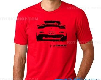 Mazda RX7 FD3s Tshirt- Rx7 3rd Gen- Rotary Engine - Rx7 shirt Wankel