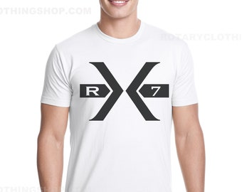 The Big X- Mazda Rx7 Tshirt- wankel Engine - Rotary power - RX7 Fb Rx7 FC RX7 FD3s