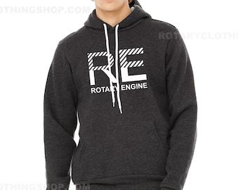 Rotary Engine racing -Mazda rotary power Sweater - Mid weight hoodie - Rx7 Sweatshirt Rx8 - Rx3 - Cosmo