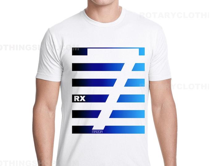 Featured listing image: RX7 Stripes Next Gen - Mazda RX7 Tshirt - Wankel - Rotary Engine