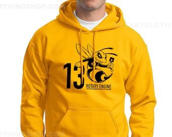 The Rotary 13B Sweater - Mazda Rotary Engine  Mazda Sweatshirt - Pullover Hoodie - Wankel -Rx7