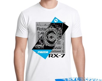 The Wankel - Mazda Rotary Engine T-shirt - Wankel engine -Rx7 Tshirt- rx8 - rx3 - cosmo - mazda repu - 787B
