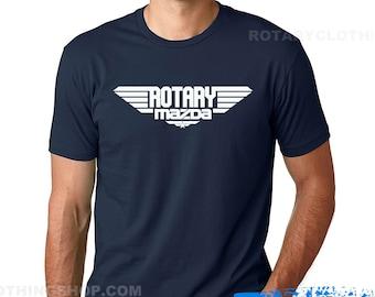Rotary Mazda - Men Tshirt - Wankel Engine Top Gun
