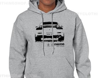 Mazda Rx-7 FD3s Sweater - JDM Legend Pullover Hoodie - Unisex - Rx7 sweatshirt - wankel engine - Rotary Power