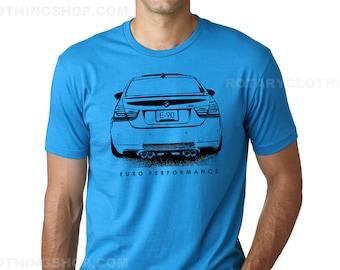 BMW M3 Tshirt- E90 - Euro Performance sketch collection - BMW shirt