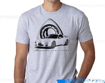 Mazda RX7 FD3s Tshirt- Rx7 JDM Legend- Rotary Engine - Wankel -Rx7 shirt