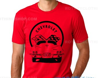 63 Corvette Stingray Tshirt - American Muscle car sketch collection - Corvette shirt