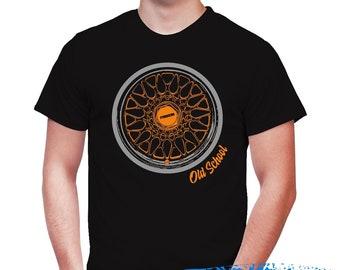 The Old School Wheels - Mazda BBS T-shirt -Rx-7 T-Shirt -Rx8 - Mazdaspeed -Mazda3