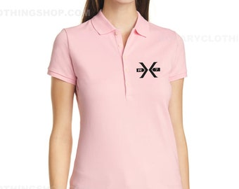 The Big X -Rx7 Edition -Mazda Rx-7 Polo -Ladies pink polo - limited edition