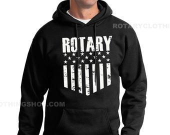 Mazda Rotary Nation Pullover - Rotary Engine sweater- Mazda Sweatshirt -Wankel  RX7 Hoodie - Rx8 - RX3