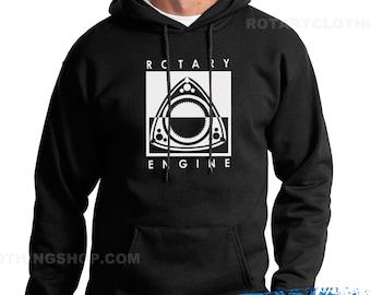 Rotary Cycle - Mazda Rotary Engine  Sweatshirt - Pullover Hoodie - Wankel -  Rotary Engine -Rx7