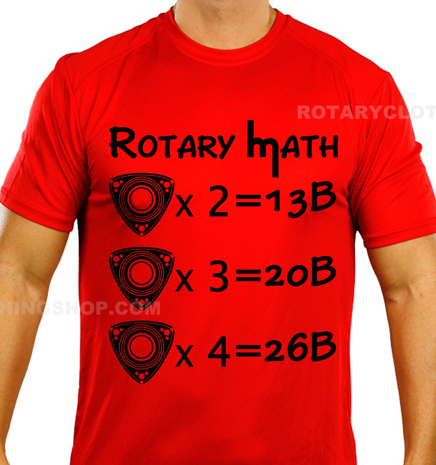 Rotary Math - mazda rotary - graphic T-shirt - Men apparel