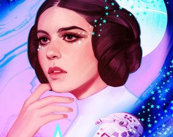 Princess Leia Fanart Etsy