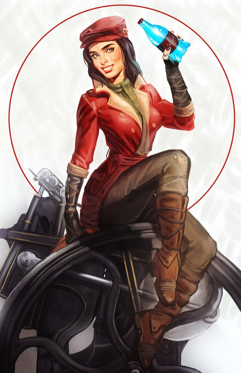 Fallout 4 Piper Wright Pinup Open Edition Art Print 11x17 Inch