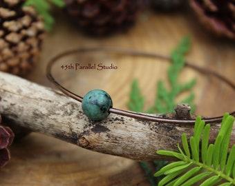 African Turquoise Bracelet, Copper Bangle, Turquoise Bangle, Bangle Bracelet, African Turquoise Jewelry, Copper Bangle, Copper Jewelry, Boho