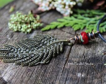 Bronze Fern Necklace, Fern Frond Necklace, Bronze Jewelry, Nature Necklace, Nature Jewelry, Forest Jewelry, Bronze Necklace, Womens Necklace