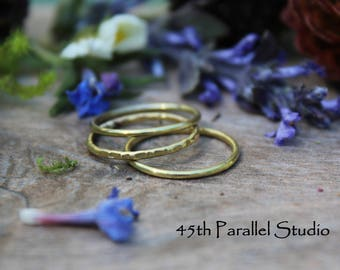 Madison dusseau on etsy brass stacking ring set midi rings knuckle rings brass ring hammered ring junglespirit Images