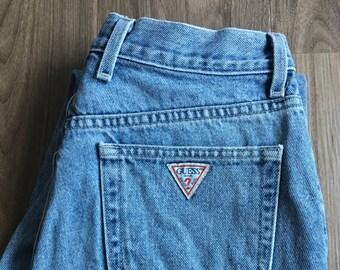 Vintage Guess High Waist Crop Jeans // Size 28