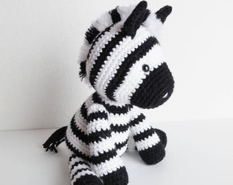 crochet zebra stuffed animal crochet animal zebra plush etsy