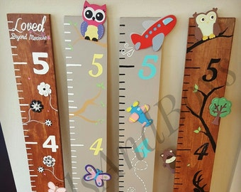 Custom Growth Chart, Decorated Room Decor, Oversized Ruler, Kid's Decor, Baby shower Gift