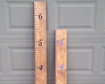 Kids Height Ruler, Family Height Chart, Wooden Growth Chart, Oversized Ruler, Kids Measuring Chart, Ruler Wall Decor, New Parent, Cool Gifts