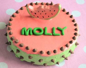 Dantes Watermelon Cake Organic Dog Treats Birthday Bakery Gift Pet Healthy Gourmet Treat