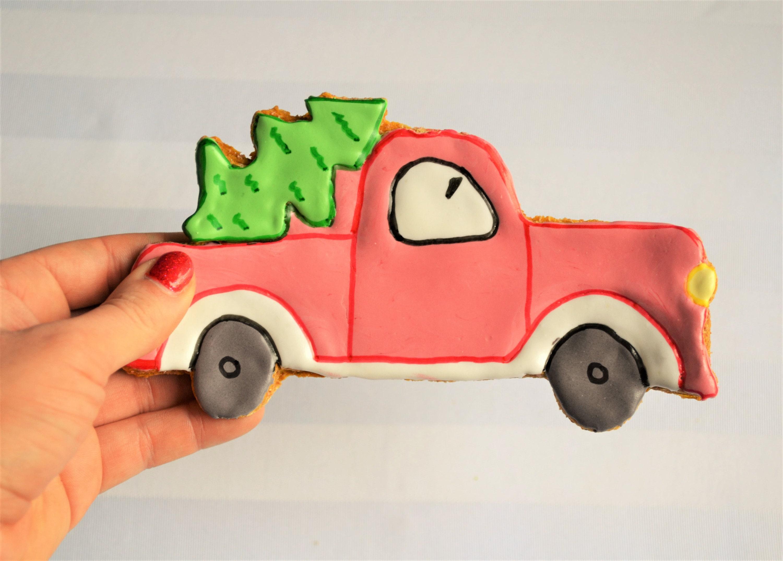 Dante S Red Truck Christmas Cookie Jumbo Dog Treat Healthy Dog Treats Gourmet Dog Treats Pet Treats Christmas Dog Treats Gift For Dog