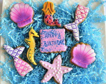 Dante's Magical Mermaid Cookie Box /Dog Birthday /Birthday Dog Treats /Gift for Dog /Mermaid Treats /Gourmet Dog Treats /Organic Dog Treats