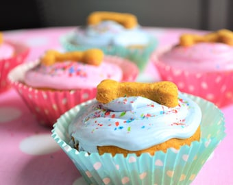 Dante's Birthday Pupcakes /Organic Dog Treat Cupcakes /Healthy Dog Treats /Dog Birthday /Dog Cake /Gift for Dog Lover /Natural Pet Treats