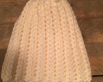 Hat, crochet, thick wool