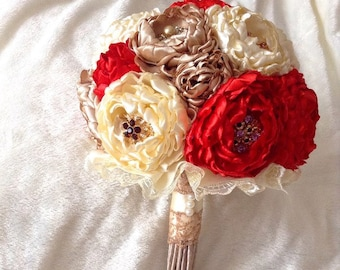 Bouquet of Peonies. Brooch bouquet, wedding bouquet peony, bridal bouquet, boutonniere, wedding bouquet with boutonniere, wedding set