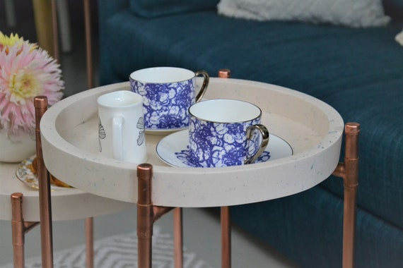 Coffee Table Tray Round, Coffee Table Tray Round White
