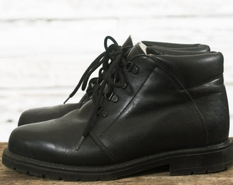 Vintage leather boots | Winter boots | Grunge boots | Leather ankle boots | Vintage winter ankle boots