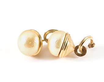 Vintage earrings / golden earrings
