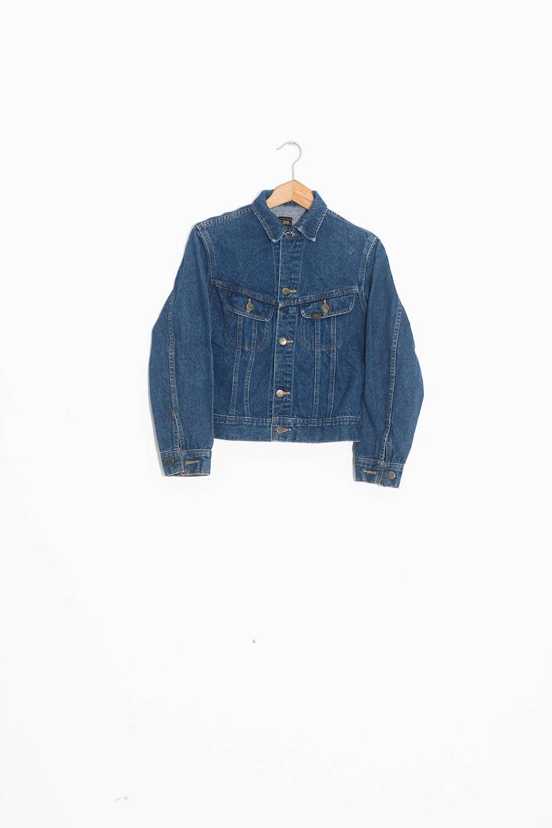 dd1648504 Manteau en jean LEE | Veste en denim vintage | Veste jean biker Lee | Lee  riders manteau de jean | Veste denim grunge | Denim XSmall Femme