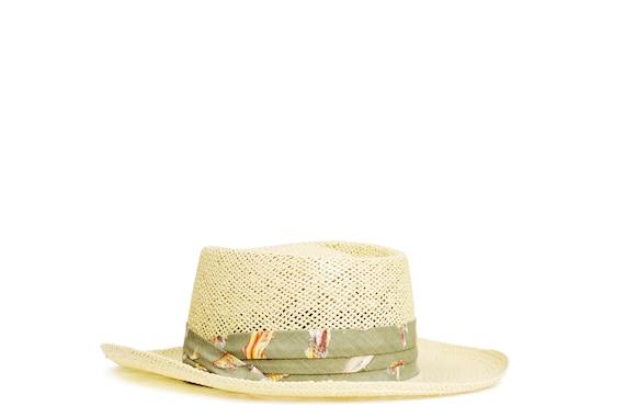Vintage canoer hat. Summer straw hat. Panama Hat.… - image 4