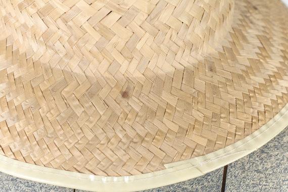Peasant straw hat. Vintage straw hat fields. Summ… - image 8