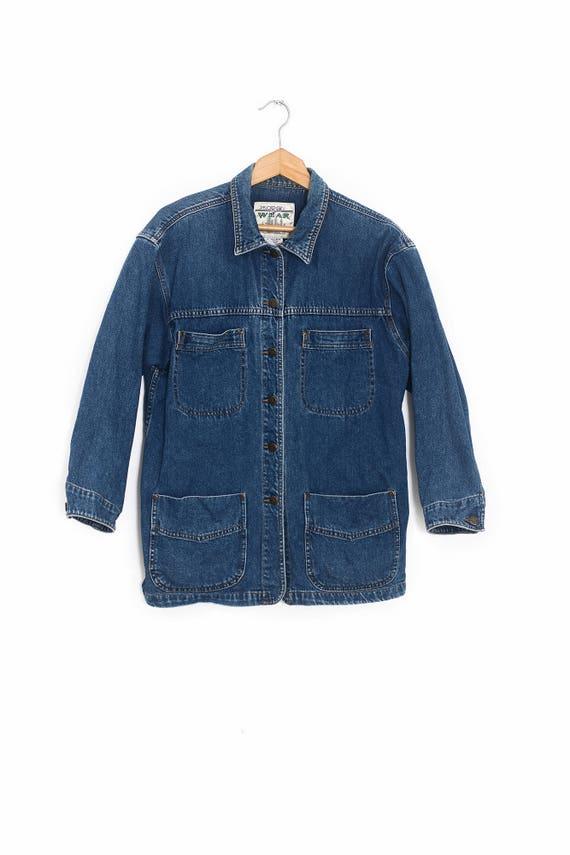 Vintage denim coat | Vintage denim jacket | Long d