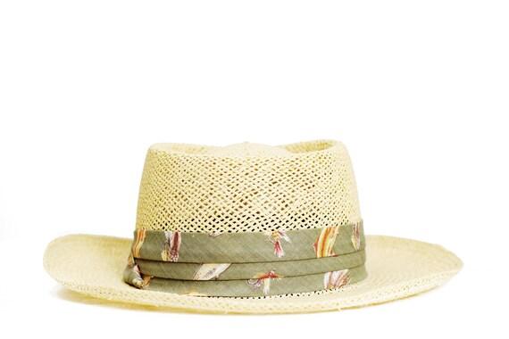 Vintage canoer hat. Summer straw hat. Panama Hat.… - image 5