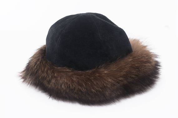 Winter fur suede hat | Winter vintage hat | Fur ha