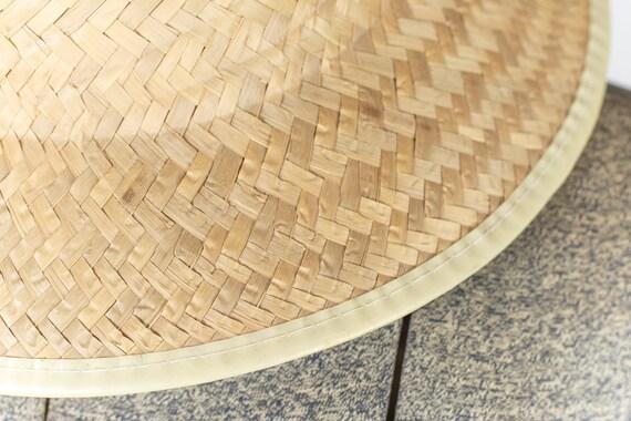 Peasant straw hat. Vintage straw hat fields. Summ… - image 7