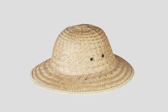 Peasant straw hat. Vintage straw hat fields. Summ… - image 1