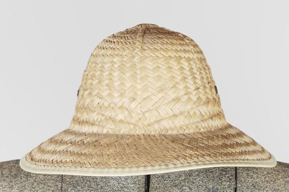 Peasant straw hat. Vintage straw hat fields. Summ… - image 4