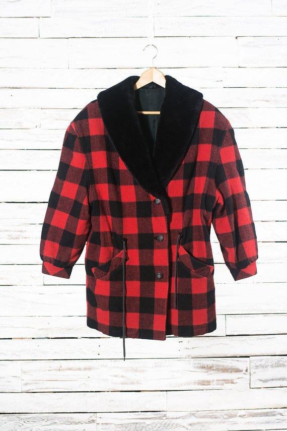 Wool plaid coat   Hunter plaid jacket   Vintage pl