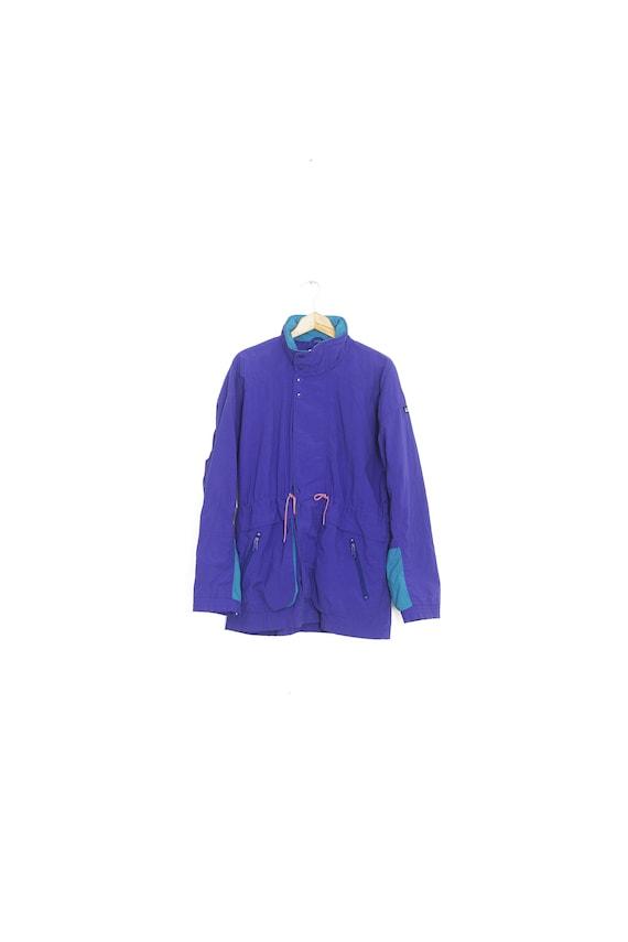 Purple vintage nylon windbreaker. Windbreaker long