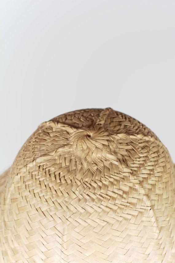 Peasant straw hat. Vintage straw hat fields. Summ… - image 5