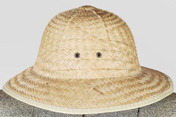 Peasant straw hat. Vintage straw hat fields. Summ… - image 2