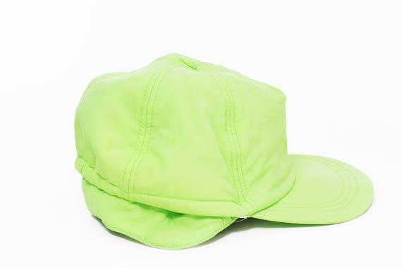 Vintage neon cap   Retro neon hat   Cap-hat neon  